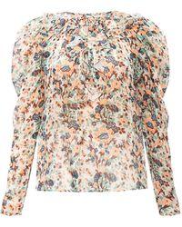 Ulla Johnson 'astrid' Silk Top Multicolour