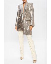 Off-White c/o Virgil Abloh - Asymmetrical Blazer Silver - Lyst