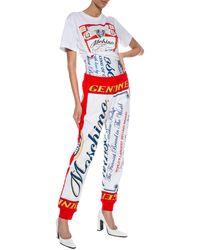 Moschino X Budweiser Print Cotton-jersey T-shirt - White