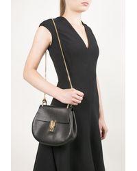 Chloé Drew Mini Leather Cross-body Bag - Black