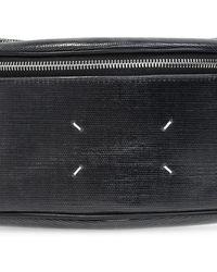 Maison Margiela Branded Belt Bag Black