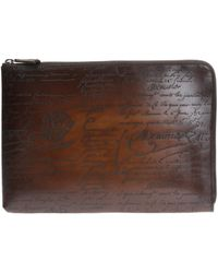 Berluti Nino Leather Document Holder - Brown