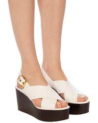 Marni Platform Sandals White
