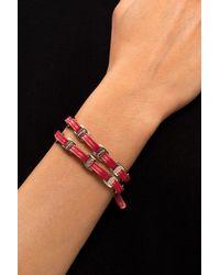 Ferragamo Leather Bracelet Red