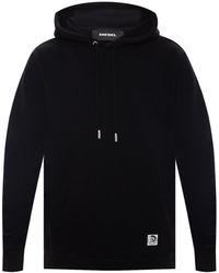 DIESEL Branded Hoodie - Black