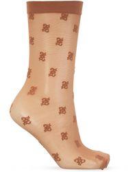 Fendi Transparent Socks - Brown