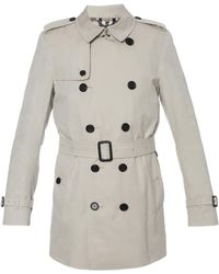 Burberry 'kensington' Double-breasted Trench Coat - Natural