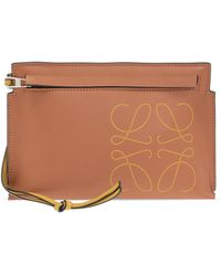 Loewe 'brand Mini' Clutch - Brown