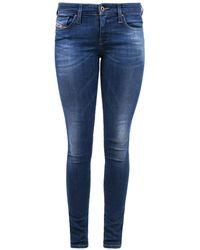 DIESEL 'skinzee-low' Jeans Navy Blue