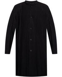 Homme Plissé Issey Miyake Ribbed Coat - Black