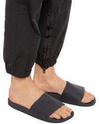 Rick Owens DRKSHDW Branded Slides - Black