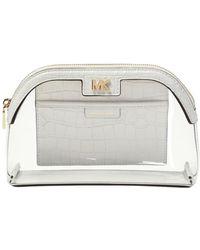Michael Kors Wash Bag With Logo - White