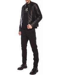 Dirk Bikkembergs Leather Jacket Black
