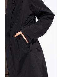 Moncler 'gavras' Hooded Coat - Black