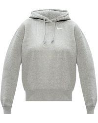 Nike Logo Hoodie Grey