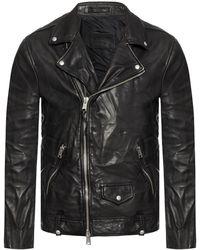 AllSaints 'milo' Biker Jacket Black