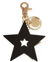 See By Chloé Keyring With Star Pendants Black