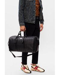 MCM Holdall Bag With Logo - Black