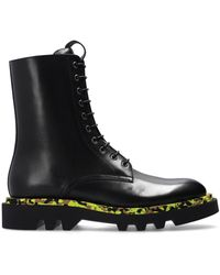 Givenchy Leather Combat Boots Black