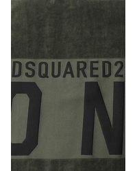 DSquared² Towel With Logo Unisex Green