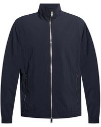 Theory Jacket With Standing Collar - Blue