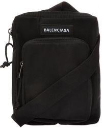 Balenciaga Logo Shoulder Bag - Black