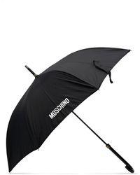 Moschino Logo Print Umbrella - Brown