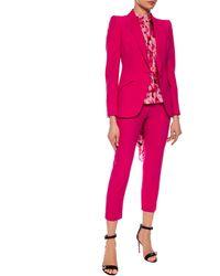 Alexander McQueen Pleat-front Pants Pink
