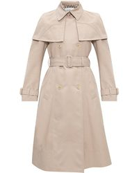 Ferragamo Double-breasted Trench Coat - Natural