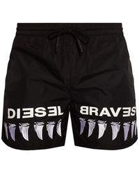 DIESEL Swim Shorts - Black