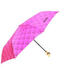 Moschino Umbrella With Case - Pink