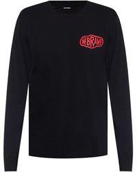 DIESEL Long Sleeve T-shirt - Black