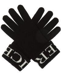Iceberg Logo-embroidered Gloves - Black