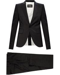DSquared² Striped Suit Gray