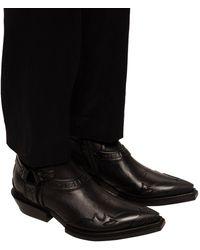 Balenciaga 'santiag' Ankle Boots Black