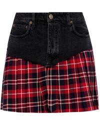 Vetements - Black And Red School Girl Miniskirt - Lyst
