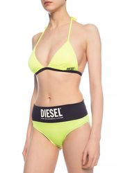 DIESEL Swimsuit Top Yellow