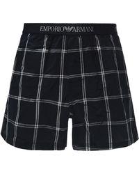 Emporio Armani - Checked Boxers - Lyst
