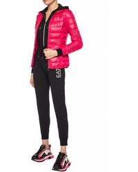 EA7 Quilted Down Jacket Pink