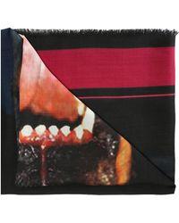 Givenchy 'rottweiler' Motif Shawl - Black