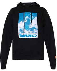 Heron Preston Hooded Sweatshirt Black