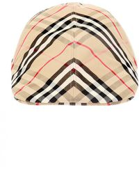 Burberry - Checked Hat - Lyst