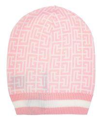 Balmain Hat With Logo Pink