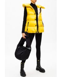 3 MONCLER GRENOBLE Hooded Down Vest Yellow