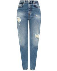 Acne Studios Distressed Jeans - Blue