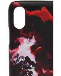Alexander McQueen Abstract Print Iphone X Case - Black