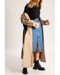 Samsøe & Samsøe Denim Skirt With Front Split Blue