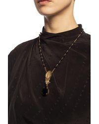 Dolce & Gabbana Rosary Necklace Gold - Metallic
