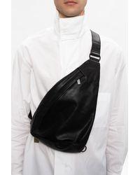 Yohji Yamamoto One-shoulder Backpack Black