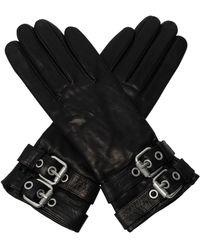 AllSaints 'oren' Leather Gloves - Black